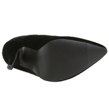 Černý Samet 13 cm SEDUCE-420 lodičky na vysoké podpatky