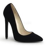 Černý Samet 13 cm SEXY-20 Dámské Lodičky na podpatků