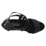 Černý elastický pás 15 cm DELIGHT-669 pleaser boty na podpatku