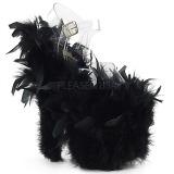 Černý peří marabu 20 cm FLAMINGO-808F Boty pro tanec na tyči