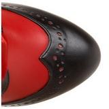 Červený 11,5 cm TEMPT-126 Dámské Kozačky s Tkaničkami