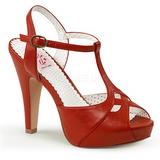 Červený 11,5 cm retro vintage BETTIE-23 Večerní Sandály s podpatkem