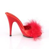 Červený 13 cm POISE-501F peří marabu Vysoké Podpatku