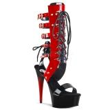 Červený 15 cm DELIGHT-600-38 dámské sandály gladiátorky