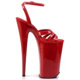 Červený 25,5 cm Pleaser BEYOND-012 Vysoké Podpatky Platformě