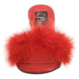 Červený 8 cm AMOUR-03 peří marabu Vysoké Podpatku