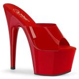 Červený Jelly-Like 18 cm ADORE-701N pantofle na podpatku pro tanec na tyči