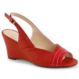 Červený Koženka 7,5 cm KIMBERLY-01SP velké velikosti sandály dámské