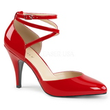 Červený Lakovaná 10 cm DREAM-408 velké velikosti lodičky obuv