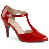 Červený Lakovaná 10 cm DREAM-425 velké velikosti lodičky obuv