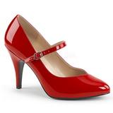 Červený Lakovaná 10 cm DREAM-428 velké velikosti lodičky obuv