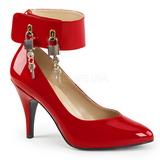 Červený Lakovaná 10 cm DREAM-432 velké velikosti lodičky obuv
