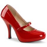 Červený Lakovaná 11,5 cm PINUP-01 velké velikosti lodičky obuv