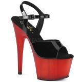 Červený Lakovaná 18 cm ADORE-709T pleaser sandály na platformě