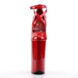 Červený Lakovaná 25,5 cm BEYOND-087 pleaser lodičky na platformě