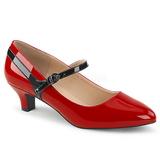 Červený Lakovaná 5 cm FAB-425 velké velikosti lodičky obuv