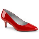 Červený Lakovaná 6,5 cm KITTEN-01 velké velikosti lodičky obuv
