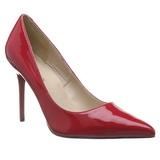 Červený Lakované 10 cm CLASSIQUE-20 Lodičky Dámské Stiletto Podpatků