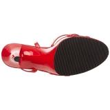 Červený Lakované 12 cm FLAIR-436 sandály vysoký podpatek