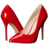 Červený Lakované 13 cm AMUSE-20 Lodičky Dámské Stiletto Podpatků