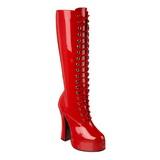 Červený Lakované 13 cm ELECTRA-2020 Dámské Kozačky pro Muže