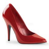 Červený Lakované 13 cm SEDUCE-420 Lodičky pro muže