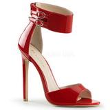 Červený Lakované 13 cm SEXY-19 Večerní Sandály s podpatkem