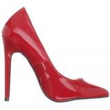 Červený Lakované 13 cm SEXY-20 Dámské Lodičky na podpatků