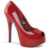 Červený Lakované 14,5 cm TEEZE-22 Lodičky Dámské Stiletto Podpatků
