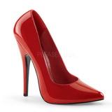 Červený Lakované 15 cm DOMINA-420 Lodičky Dámské Stiletto Podpatků