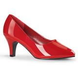 Červený Lakované 8 cm DIVINE-420W Lodičky pro muže