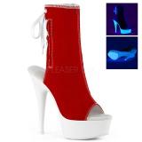 Červený Neon 15 cm DELIGHT-1018SK plátno tenisky na podpatku