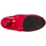 Červený Platformě Kotníkové Kozačky 15,5 cm DELIGHT-1020