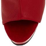 Červený Platformě Kotníkové Kozačky 15 cm DELIGHT-1018