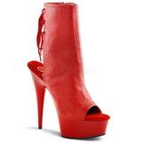 Červený Platformě Kotníkové Kozačky 16 cm Pleaser DELIGHT-1018