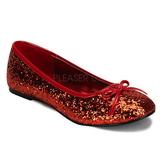Červený STAR-16G třpyt dámské baleríny obuv